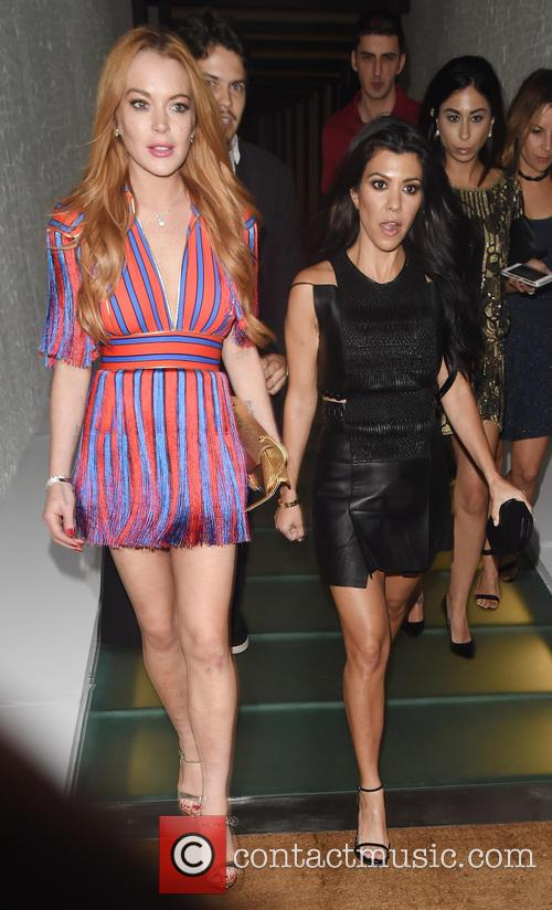 Kourtney Kardashian and Lindsay Lohan 10