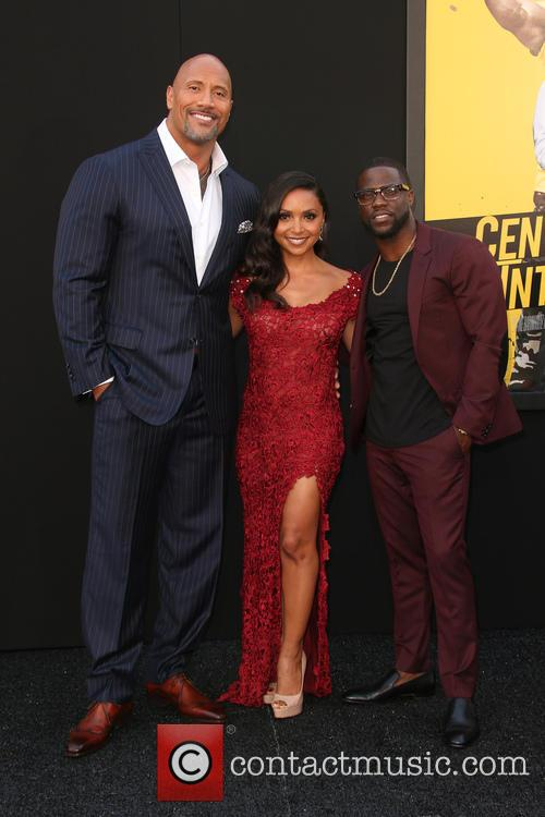 Dwayne 'the Rock' Johnson, Danielle Nicolet and Kevin Hart 8