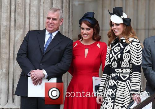 Prince Andrew, Princess Eugenie and Princess Beatrice 8