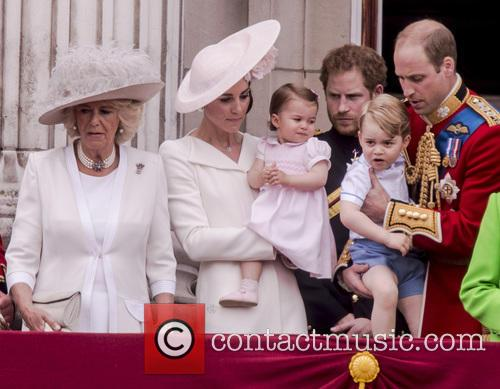 Camilla The Duchess Of Cornwall, The Duchess Of Cambridge, Princess Charlotte and Prince George 8