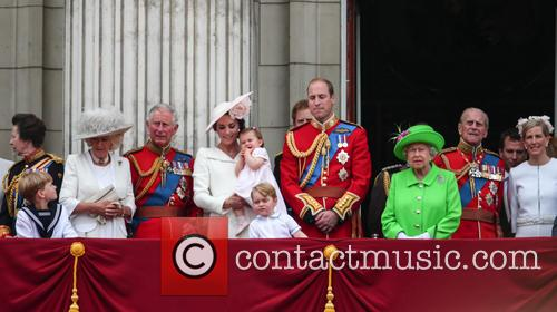 Camilla Duchess Of Cornwall, Prince Charles Prince Of Wales, Catherine Duchess Of Cambridge, Kate Middleton, Princess Charlotte, Prince George, Prince William Duke Of Cambridge, Queen Elizabeth Ii, Prince Philip Duke Of Edinburgh, Sophie Countess Of Wessex and Princess Anne 6