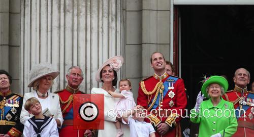 Camilla Duchess Of Cornwall, Prince Charles Prince Of Wales, Catherine Duchess Of Cambridge, Kate Middleton, Princess Charlotte, Prince George, Prince William Duke Of Cambridge, Queen Elizabeth Ii and Prince Philip Duke Of Edinburgh 9