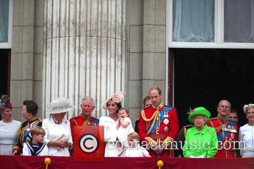 Princess Anne, Camilla, Duchess Of Cornwall, Prince Charles, Catherine, Duchess Of Cambridge, Kate Middleton, Catherine Middleton, Princess Charlotte, Prince George, Prince William, Queen Elizabeth Ii and Prince Phillip 4