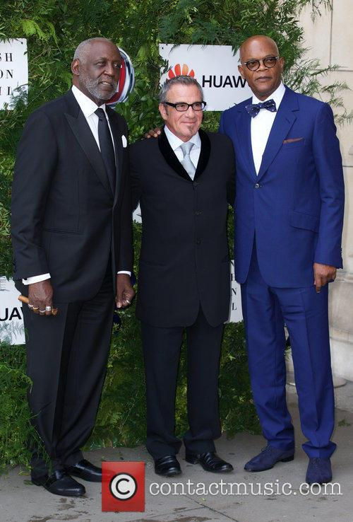 Richard Roundtree, Tico Torres and Samuel L. Jackson 5