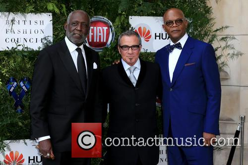Richard Roundtree, Samuel L Jackson and Tico Torres 9