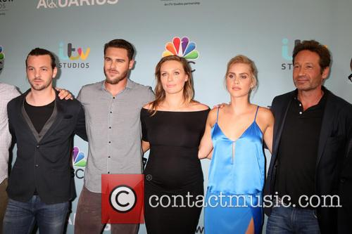 Aquarius Cast, Gethin Anthony, Grey Damon, Michaela Mcmanus, Claire Holt and David Duchovny 1