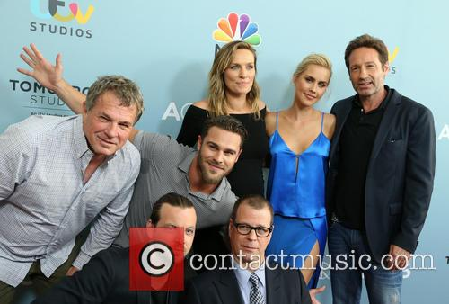 Marty Adelstein, Grey Damon, Gethin Anthony, Michaela Mcmanus, Claire Holt and David Duchovny 1