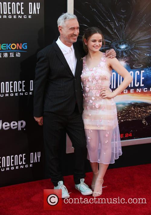 Roland Emmerich and Joey King 1
