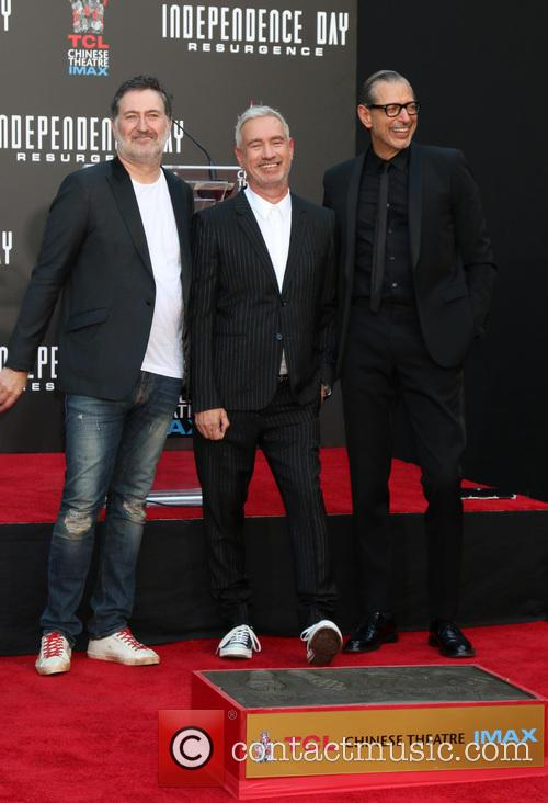 Harald Kloser, Roland Emmerich and Jeff Goldblum 1