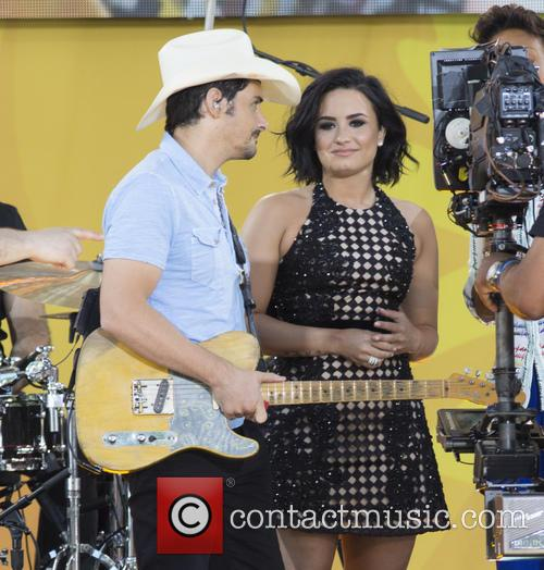 Brad Paisley and Demi Lovato 1