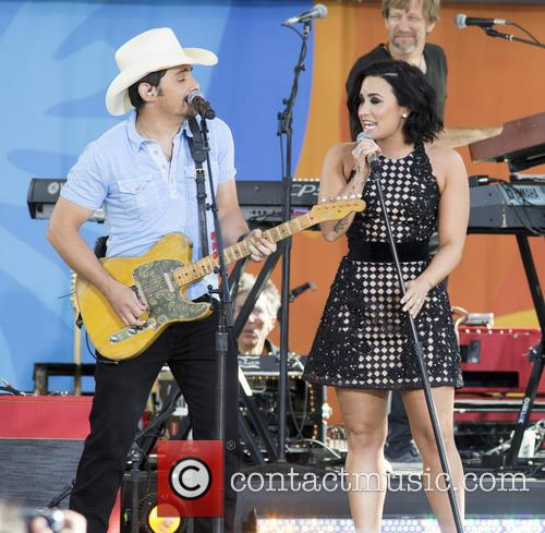 Brad Paisley and Demi Lovato 7