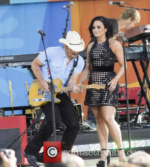 Brad Paisley and Demi Lovato 9