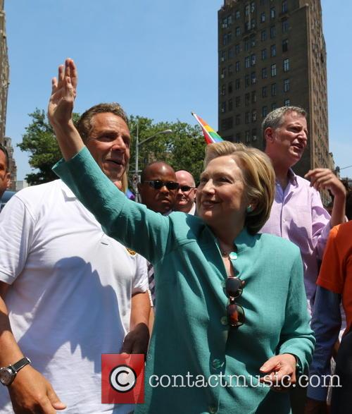 Andrew M. Cuomo and Hilary Clinton 2