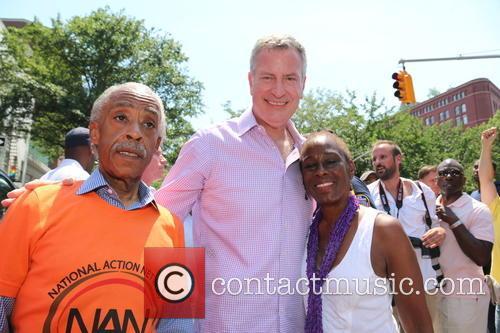 Al Sharpton, Chirlane Mccray and Bill De Blasio 1