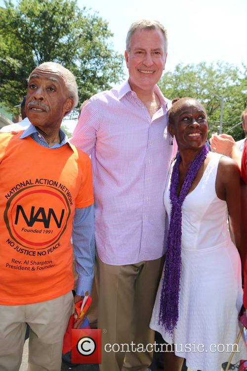 Al Sharpton, Chirlane Mccray and Bill De Blasio