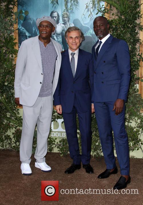 Samuel L. Jackson, Christoph Waltz and Djimon   Hounsou 2