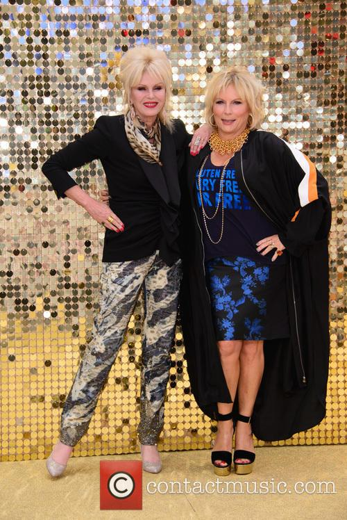 Jennifer Saunder and Joanna Lumley