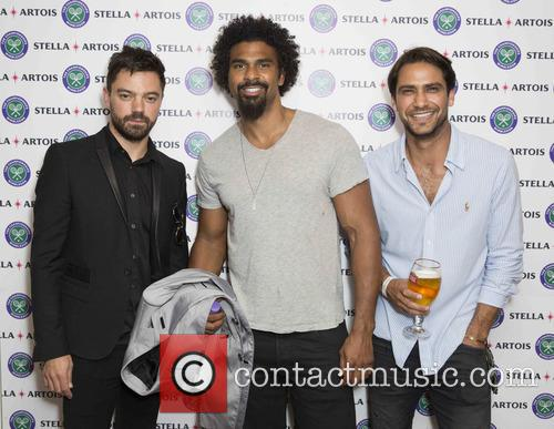 Dominic Cooper, David Haye and Luke Pasqualino