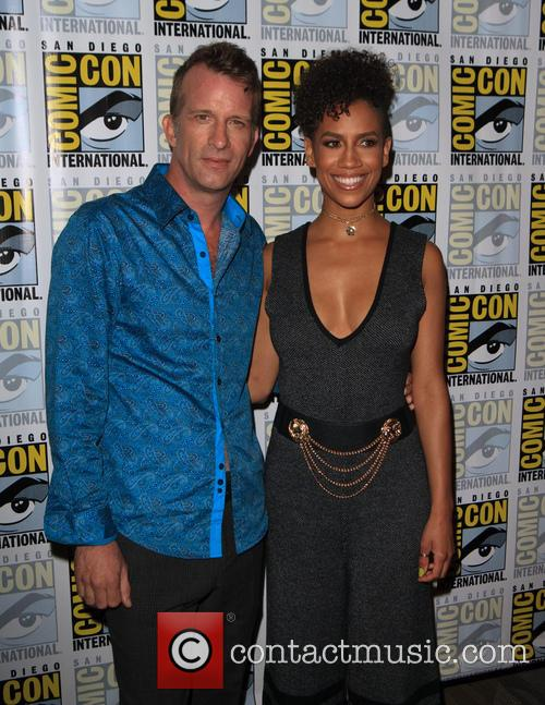 Thomas Jane and Dominique Tipper