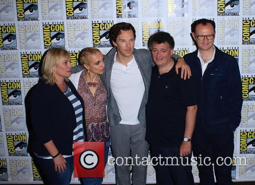Mark Gatiss, Steven Moffat, Amanda Abbington, Sue Vertue and Benedict Cumberbatch 1