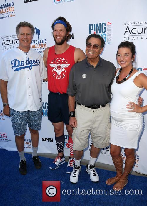 Will Ferrell, Clayton Kershaw, Dennis Gilbert and Ellen Kershaw 4