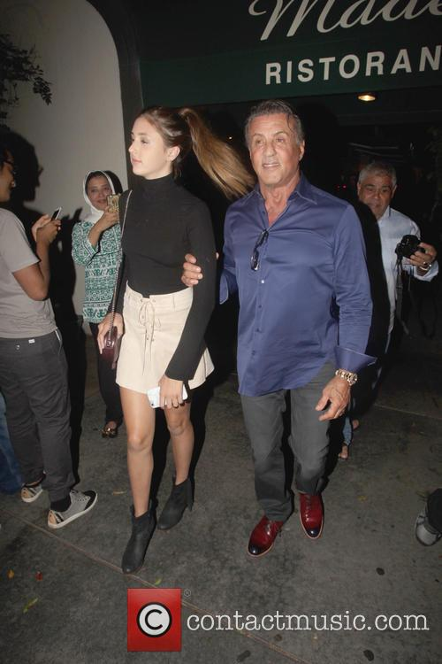 Sylvester Stallone and Scarlet Rose Stallone 2