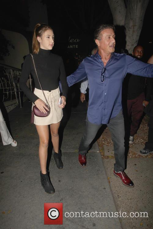 Sylvester Stallone and Scarlet Rose Stallone 7