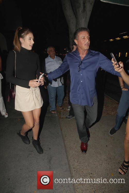 Sylvester Stallone and Scarlet Rose Stallone 8