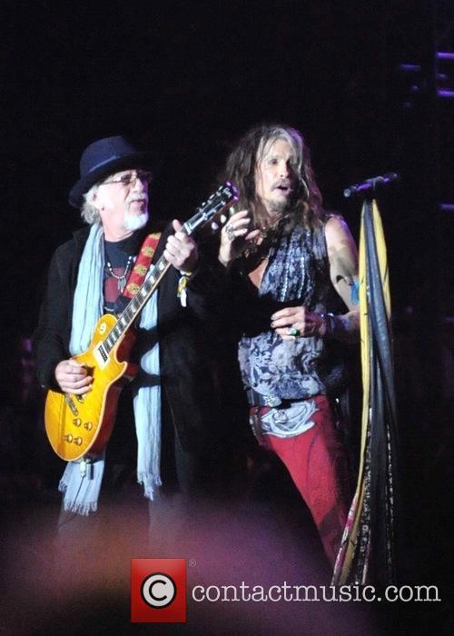 Aerosmith, Brad Whitford and Steven Tyler