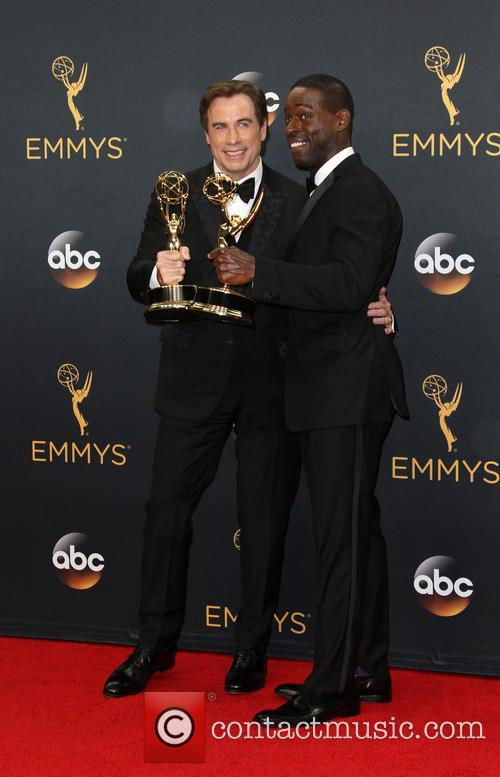 John Travolta and Sterling K. Brown 1