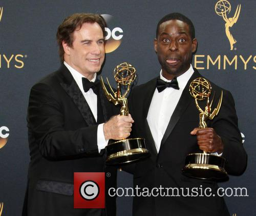 John Travolta and Sterling K. Brown 3