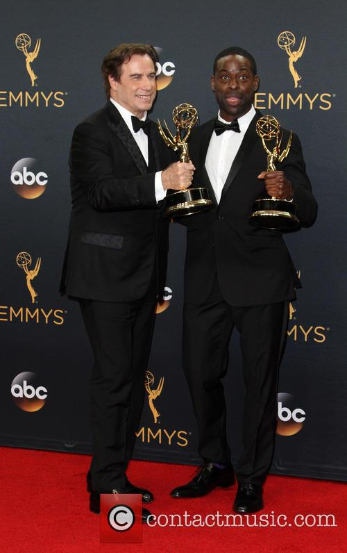 John Travolta and Sterling K. Brown 4