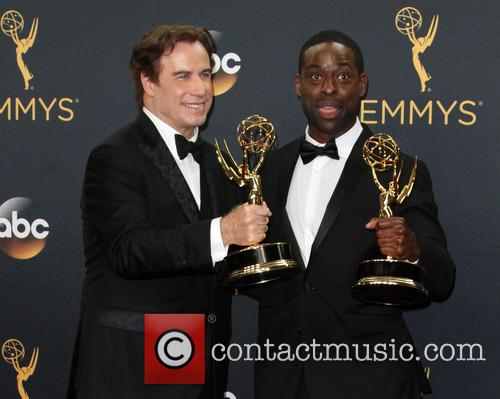 John Travolta and Sterling K. Brown 5