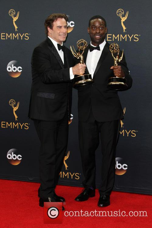 John Travolta and Sterling K. Brown 6
