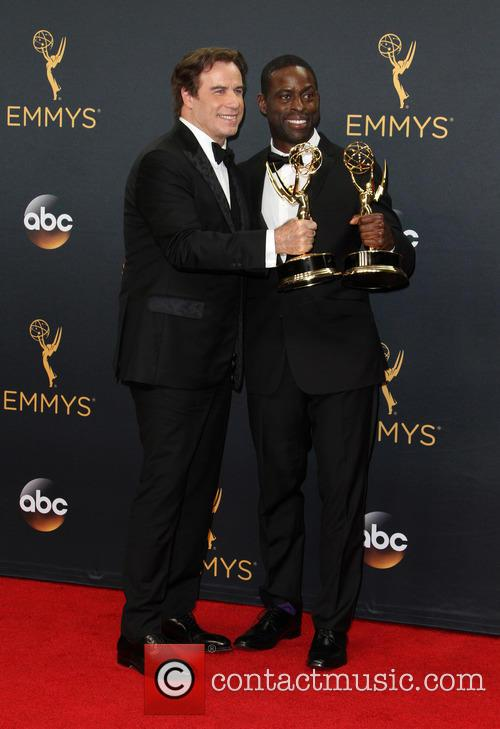 John Travolta and Sterling K. Brown 7