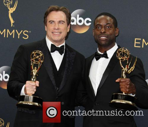 John Travolta and Sterling K. Brown 10