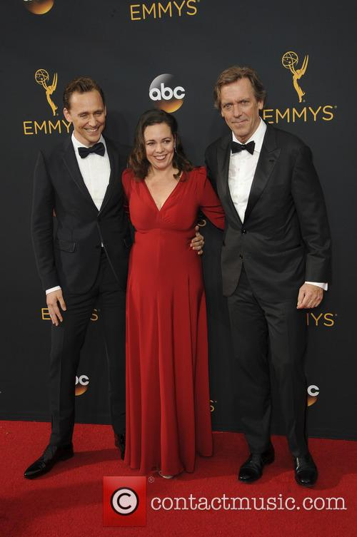 Hugh Laurie, Tom Hiddleston and Olivia Colman