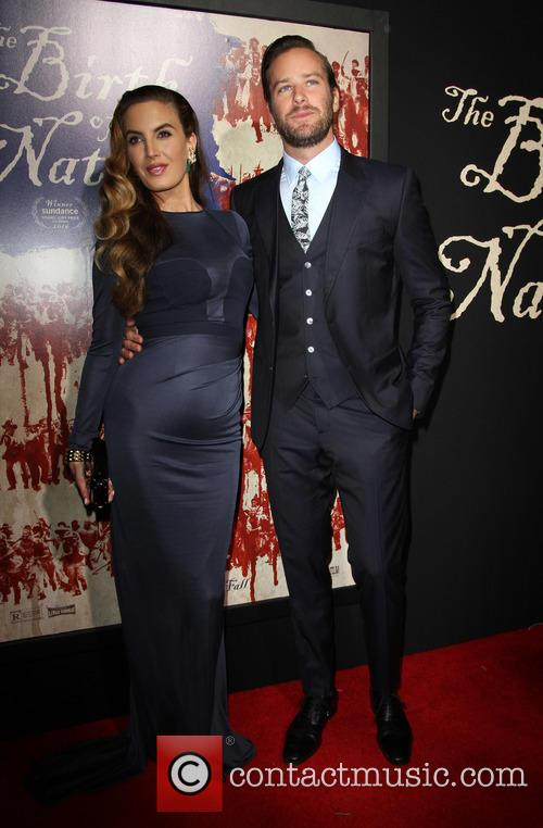 Armie Hammer and Wife Elizabeth Chambers 9