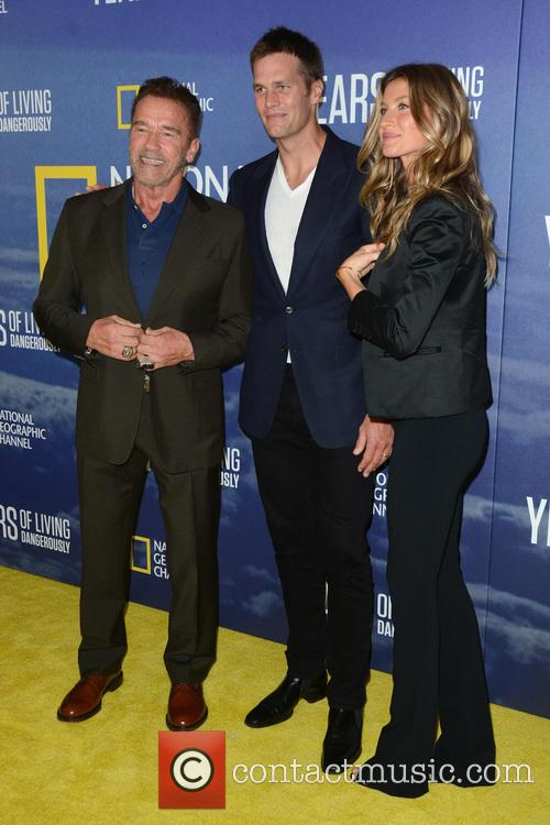 Arnold Schwarzenegger, Tom Brady and Gisele Bundchen 4