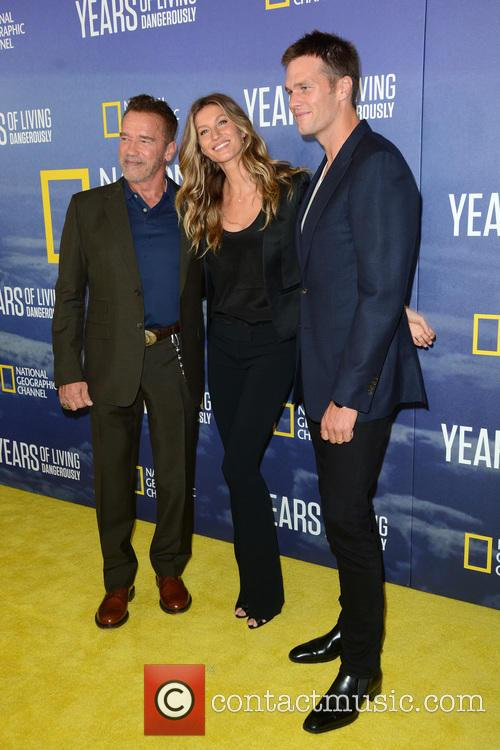Arnold Schwarzenegger, Tom Brady and Gisele Bundchen 5