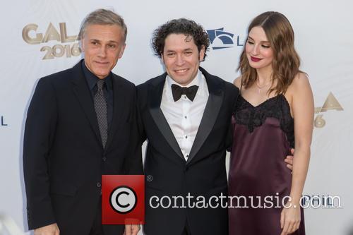 Christoph Waltz, Gustavo Dudamel and Maria Valverde 2
