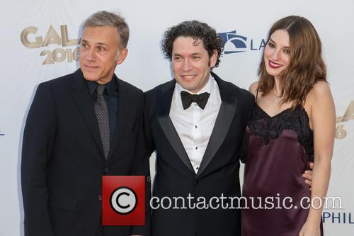 Christoph Waltz, Gustavo Dudamel and Maria Valverde 3