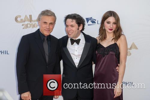Christoph Waltz, Gustavo Dudamel and Maria Valverde 4