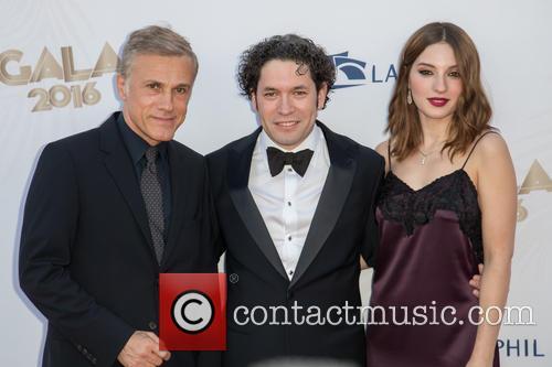 Christoph Waltz, Gustavo Dudamel and Maria Valverde 6
