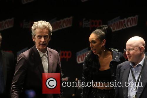 Peter Capaldi and Pearl Mackis