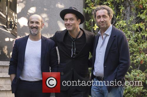 Paolo Sorrentino, Jude Law and Javier Camara