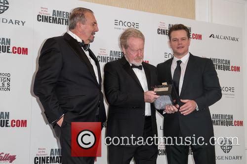 Andrea Boragno, Sir Ridley Scott and Matt Damon