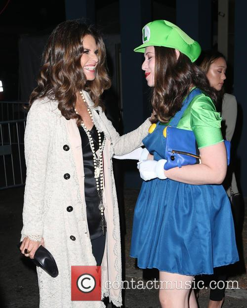 Maria Shriver and Lauren Miller