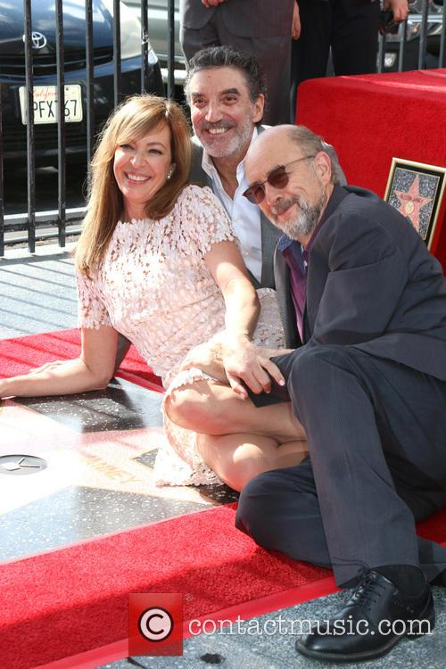 Allison Janney, Chuck Lorre and Richard Schiff