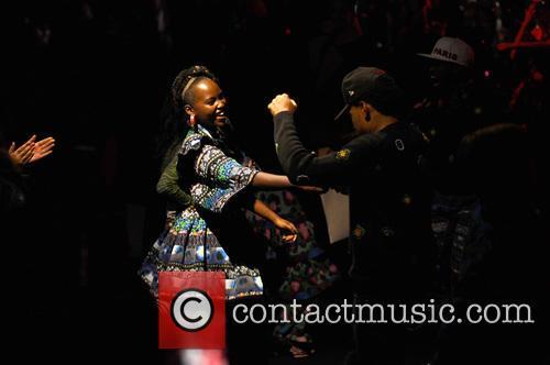 Lupita Nyong'o and Chance The Rapper